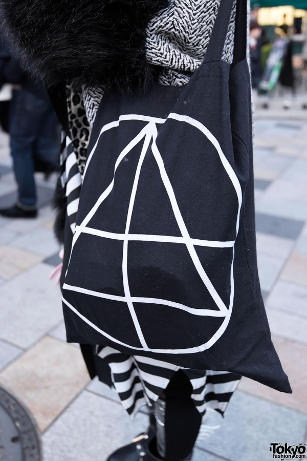 Graphic Canvas Bag in Harajuku
