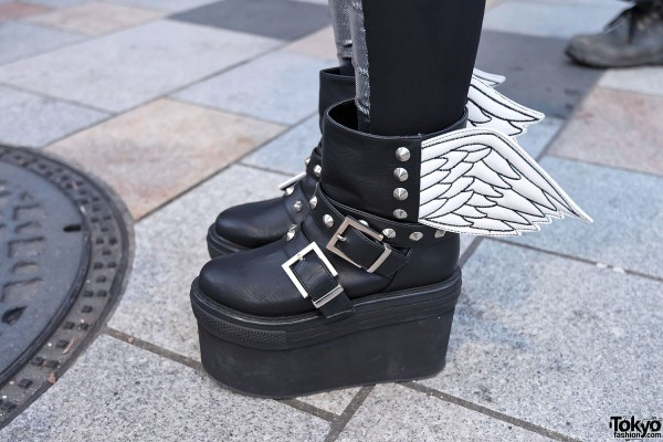 Glad News Winged Platform Boots