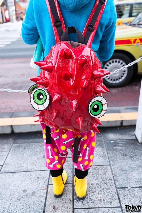 Spikey Backpack & Bloodshoot Eyeballs