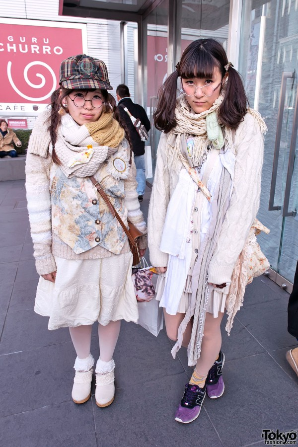 Layered Fashion w/ Round Glasses, Clogs & Cute Rings in Harajuku