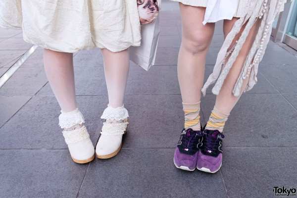 Clogs and New Balance in Harajuku