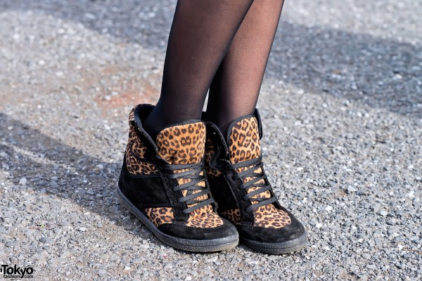 Leopard Print Sneakers from Topshop