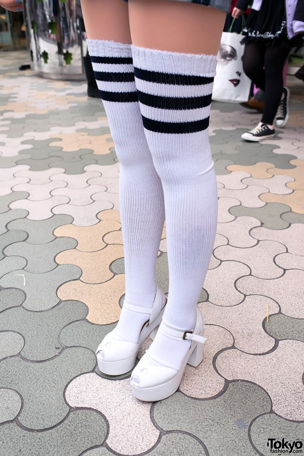 Over-the-knee Striped Tube Socks