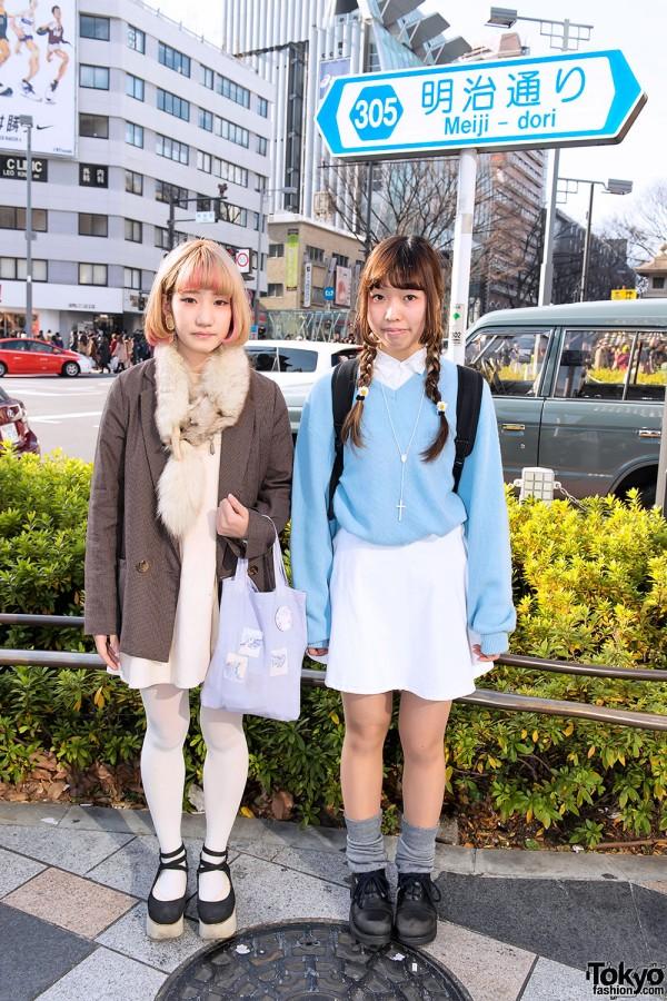 Harajuku Girls on Meiji Dori