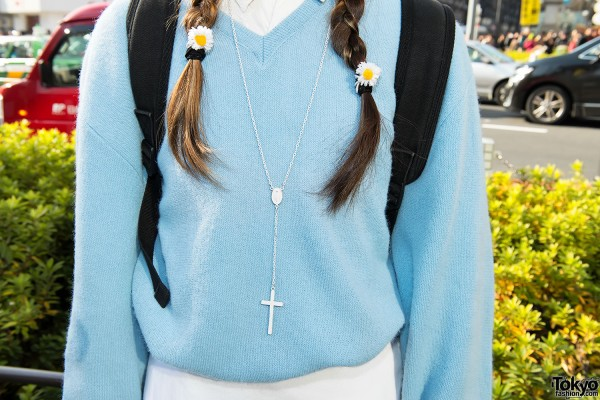 Cross Necklace in Harajuku