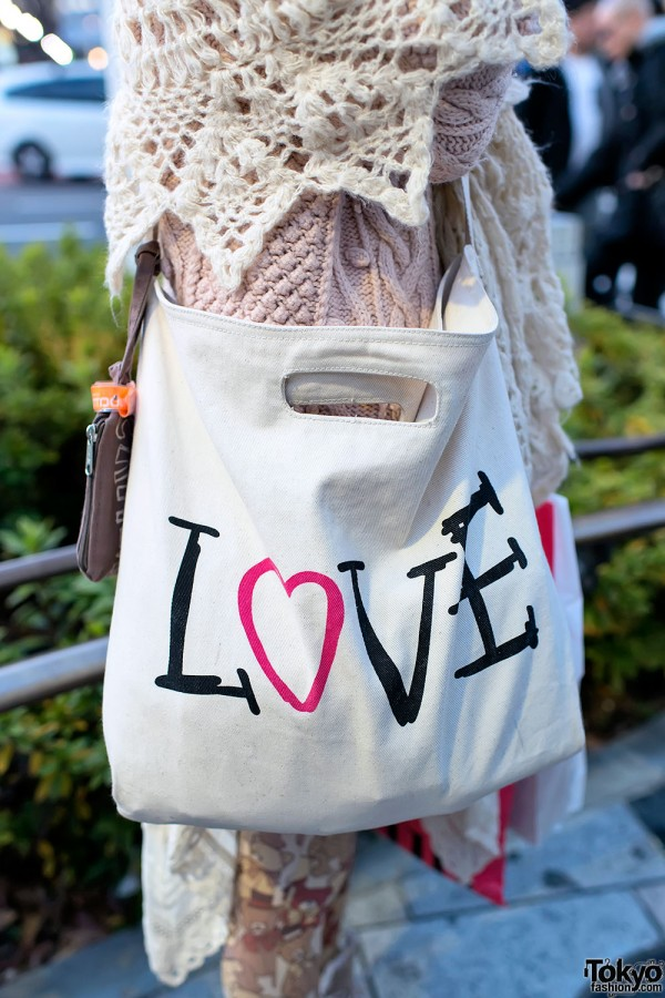Love Canvas Bag in Harajuku