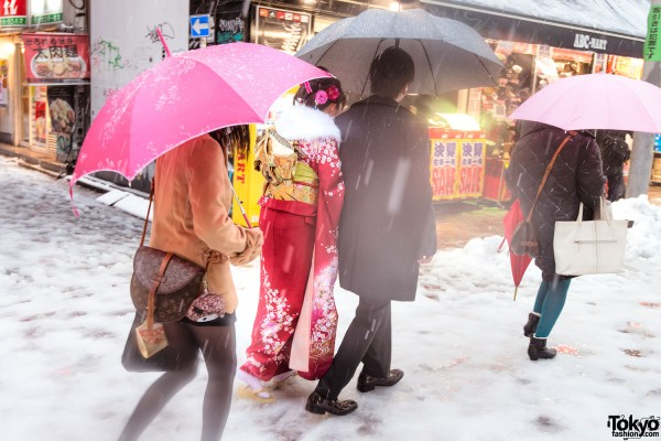 Coming of Age Day Japan 2013 Snow (112)