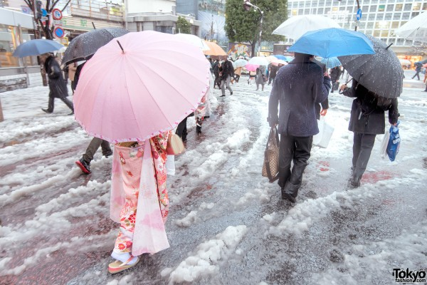 Coming of Age Day Japan 2013 Snow (116)