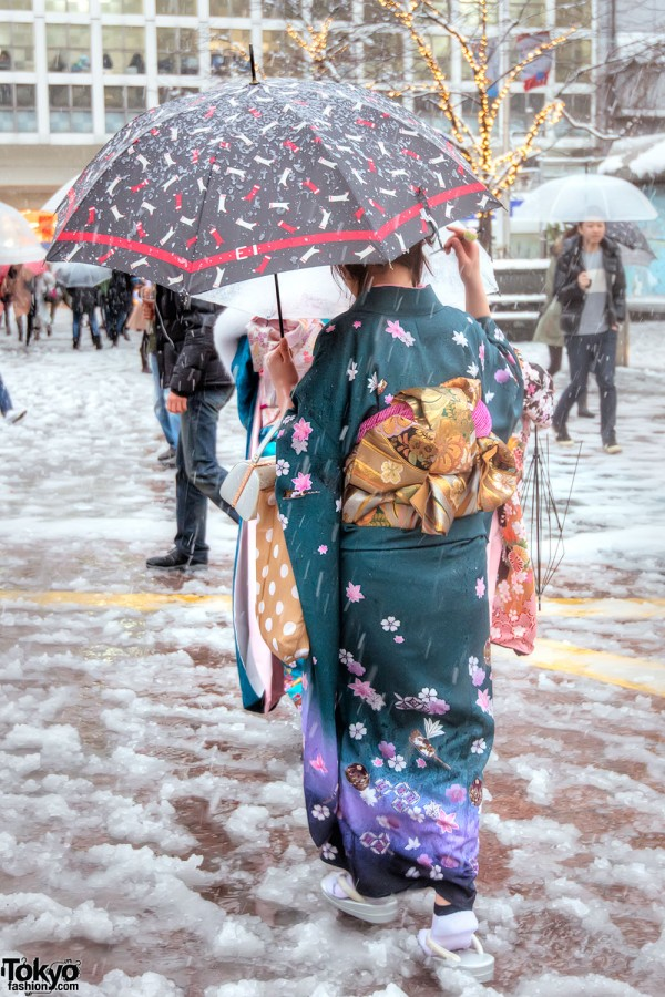 Coming of Age Day Japan 2013 Snow (117)