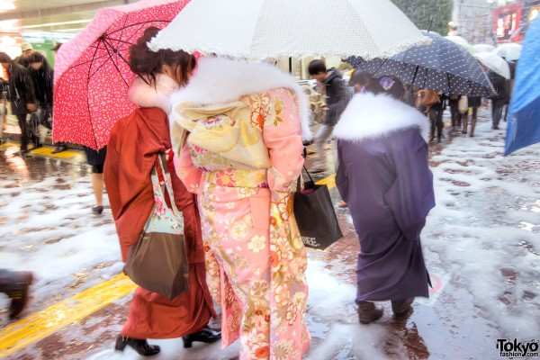 Coming of Age Day Japan 2013 Snow (124)