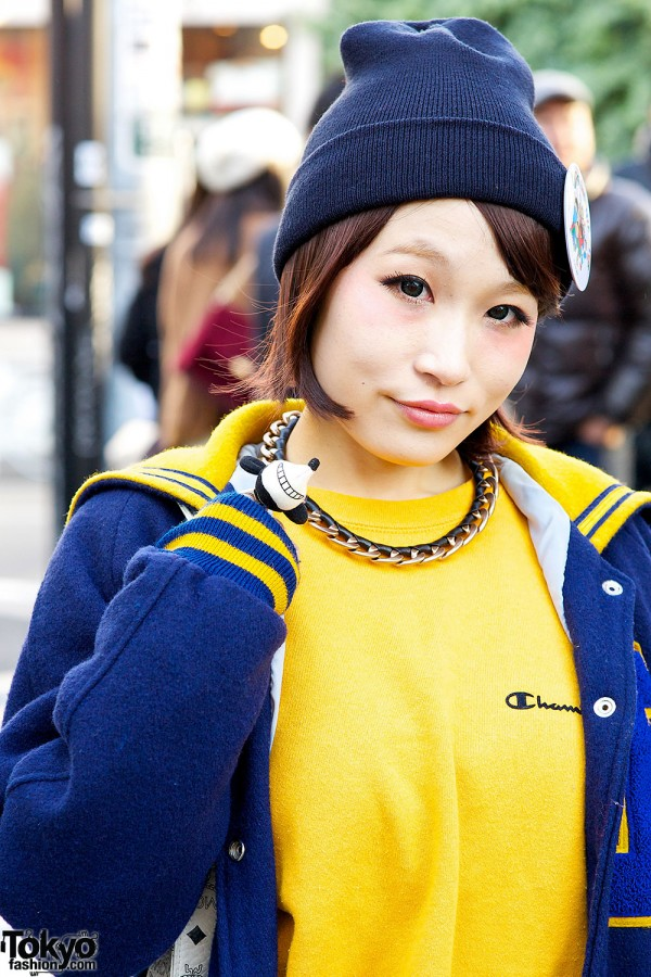 Blue and yellow fashion