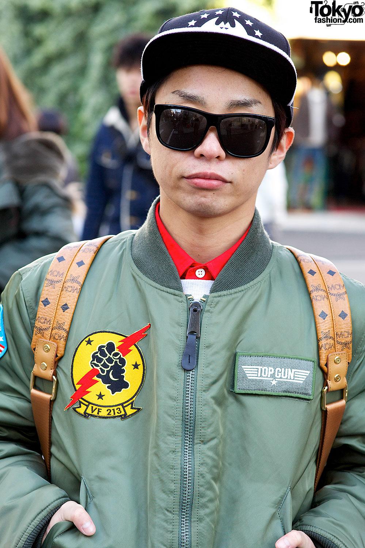 Indie J-Pop Singer in Bomber Jacket, Cheap Monday, MCM & New Balance
