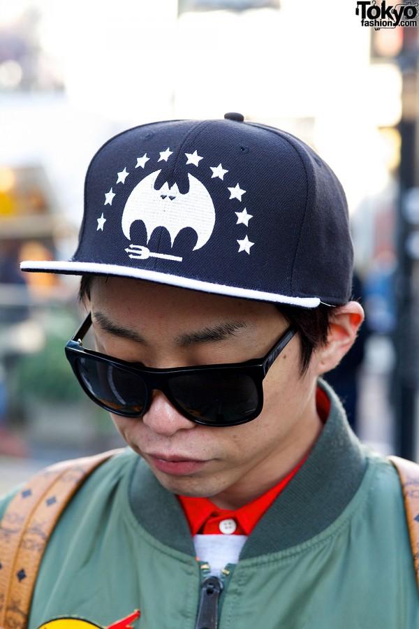 Bat cap & sunglasses