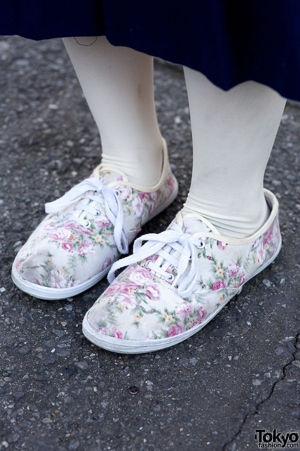 Spinns floral sneakers