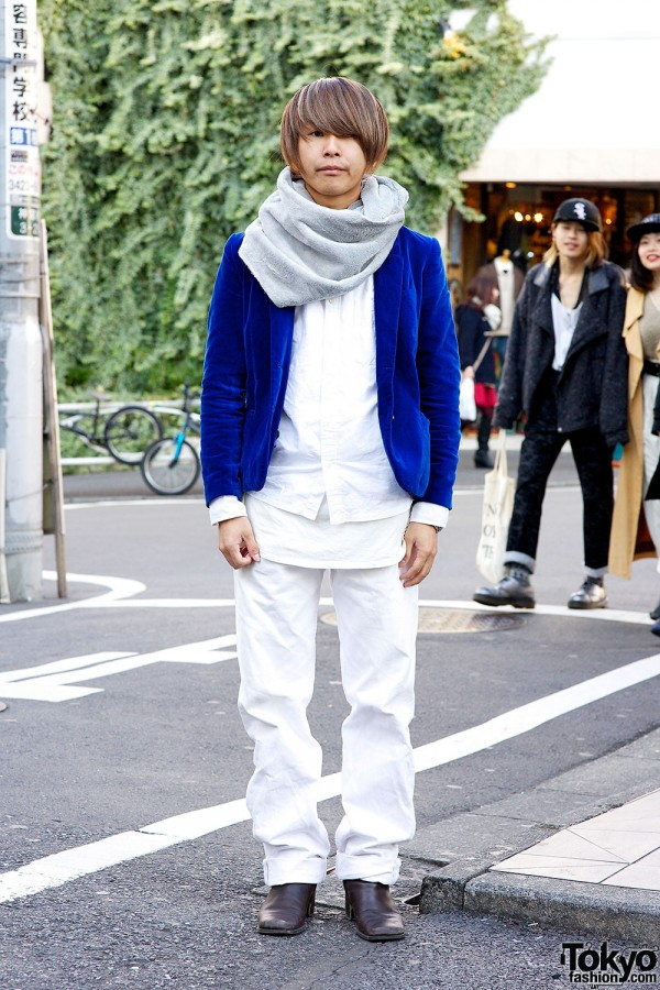 Harajuku guy in white and blue