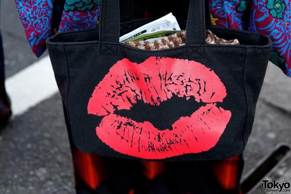 Lips print bag