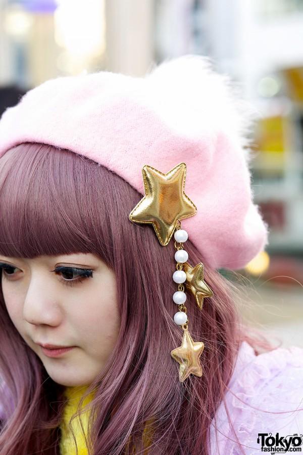 6%DOKIDOKI Stars beret