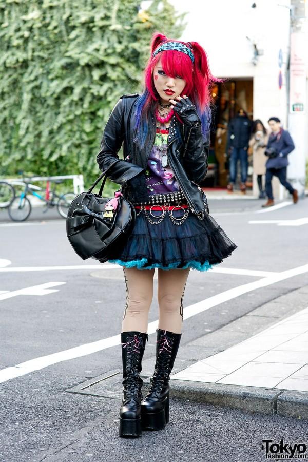 Harajuku Rock Chic w/ G2? Tutu, Dip Dye Hair & Platform Boots