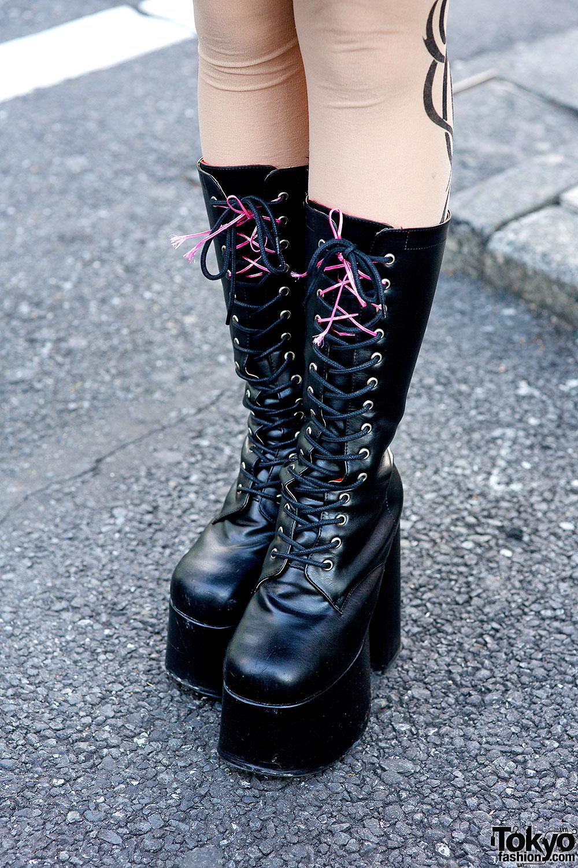 Harajuku Rock Chic W G2 Tutu Dip Dye Hair Amp Platform Boots