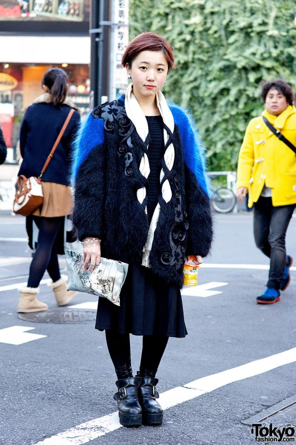 Paramore Fan w/ Vintage, Goocy Ankle Boots & Anrealage in Harajuku