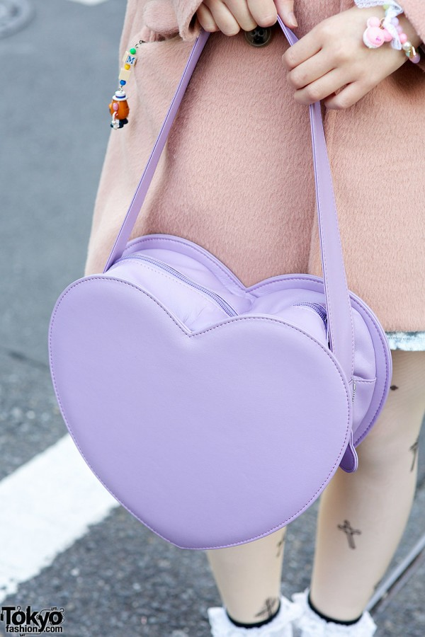 Milk heart bag in Harajuku