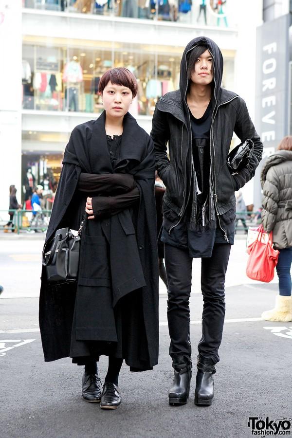 All Black Harajuku Style