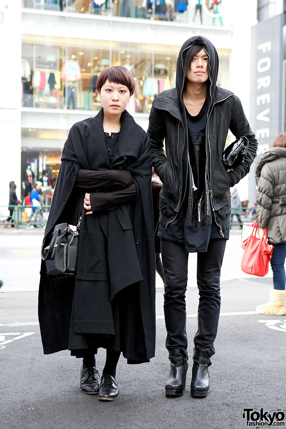 All Black Outfits W Rick Owens Limi Feu Comme Des Garcons In Harajuku