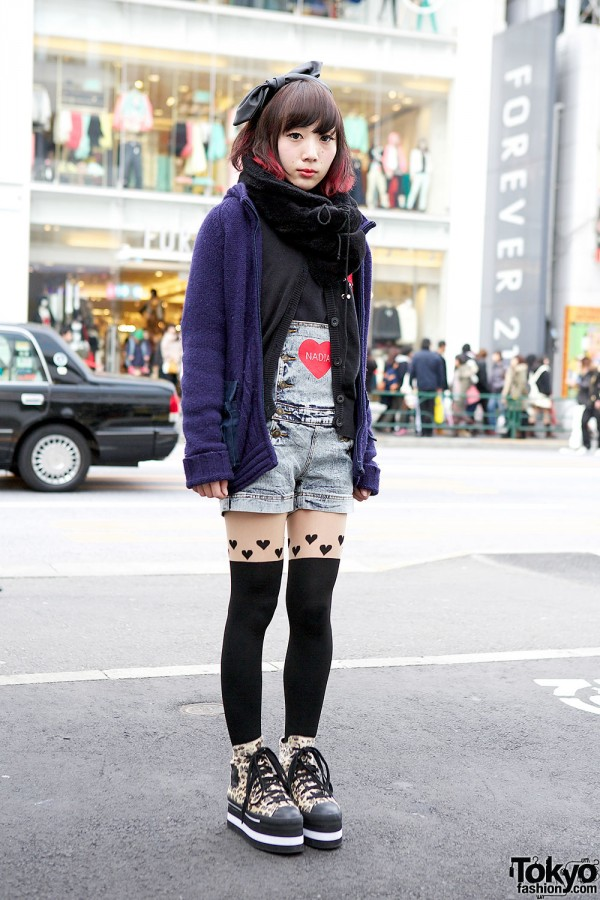 Nadia Harajuku Romper w/ Ray Cassin & Candy Stripper Platform Sneakers