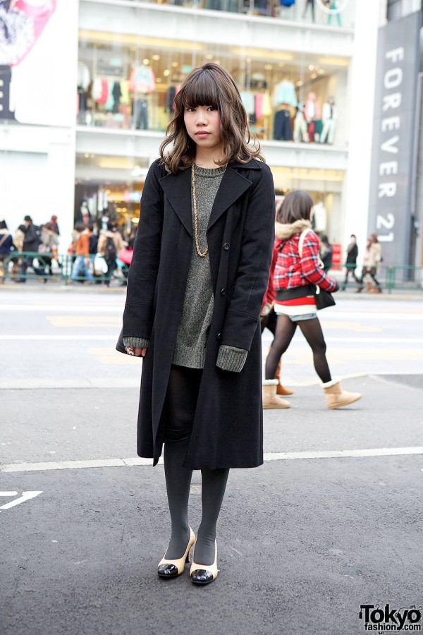 Resale Outfit w/ Forever 21 Jewelry & Cap Toe Shoes in Harajuku