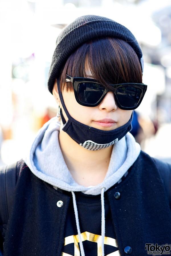 Beanie & sunglasses