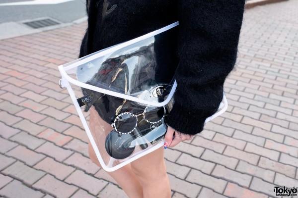 Clear Clutch Bag in Shibuya
