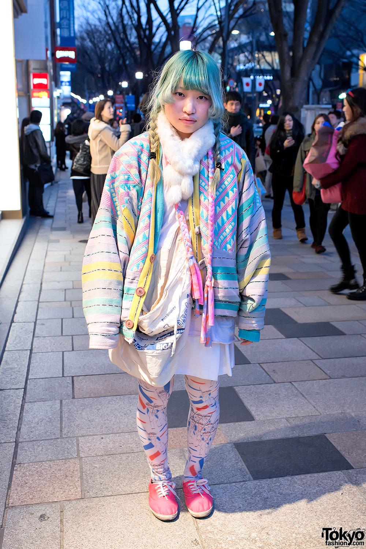Oversized Pastel Coat in Harajuku