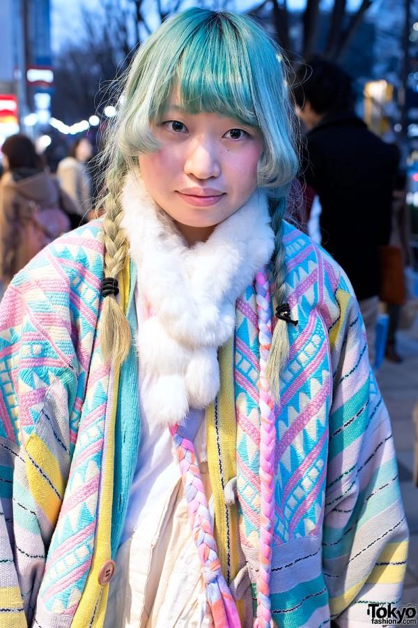 Green Hair & Pastel Coat