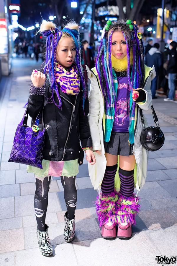 Harajuku Girls in Colorful Fashion