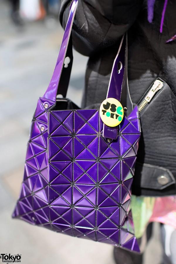 Purple Issey Miyake Bao Bao Bag