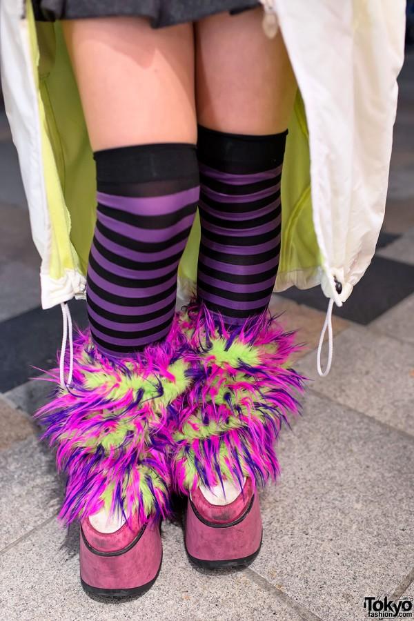Striped Socks & Rave Leg Warmers