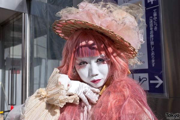 Shironuri Makeup in Harajuku