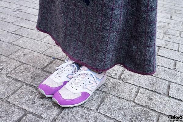 Purple & White New Balance Trainers