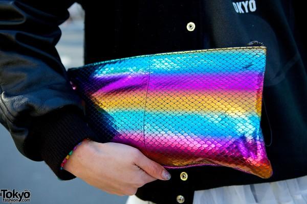 Topshop rainbow clutch