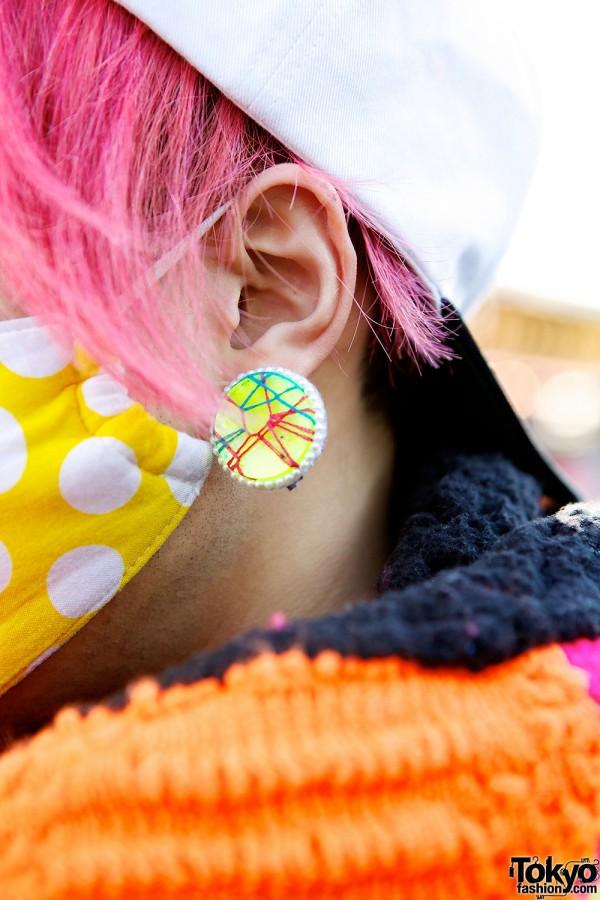 Pink hair & Polka dots