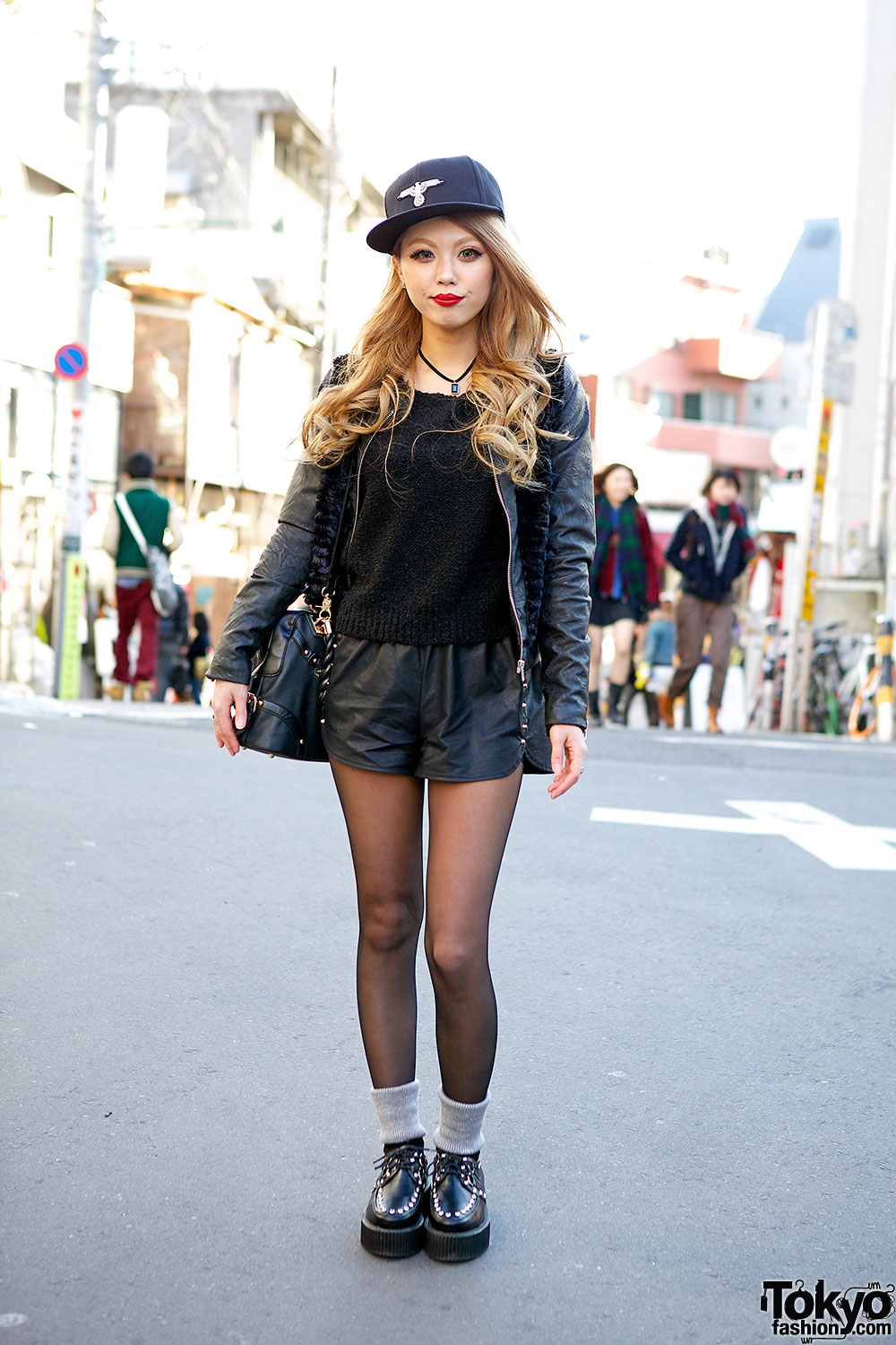 Faux Leather Outfit Tokyo Fashion News