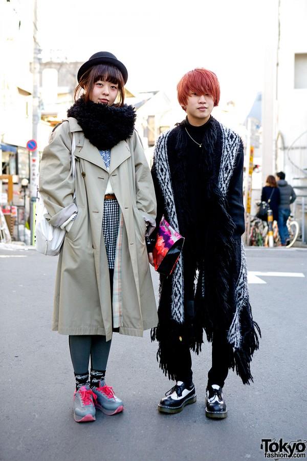 Harajuku Guy w/ Orange Hair & Anrealage + Girl w/ Resale, Dior & Hug