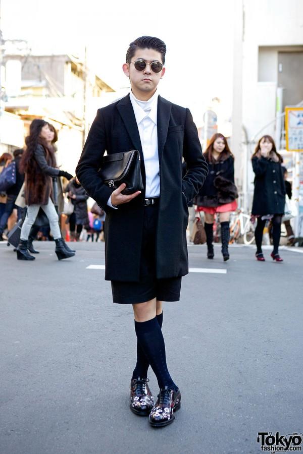 Harajuku guy in designer pieces