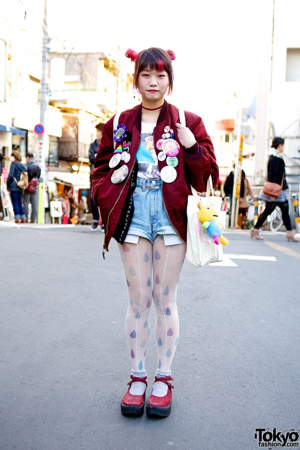 Scramble Market Elleanor w/ Pink Odango Hair, Unicorn Backpack & Kinji Bomber
