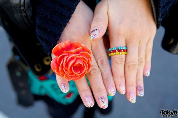 Rose Ring & nail art