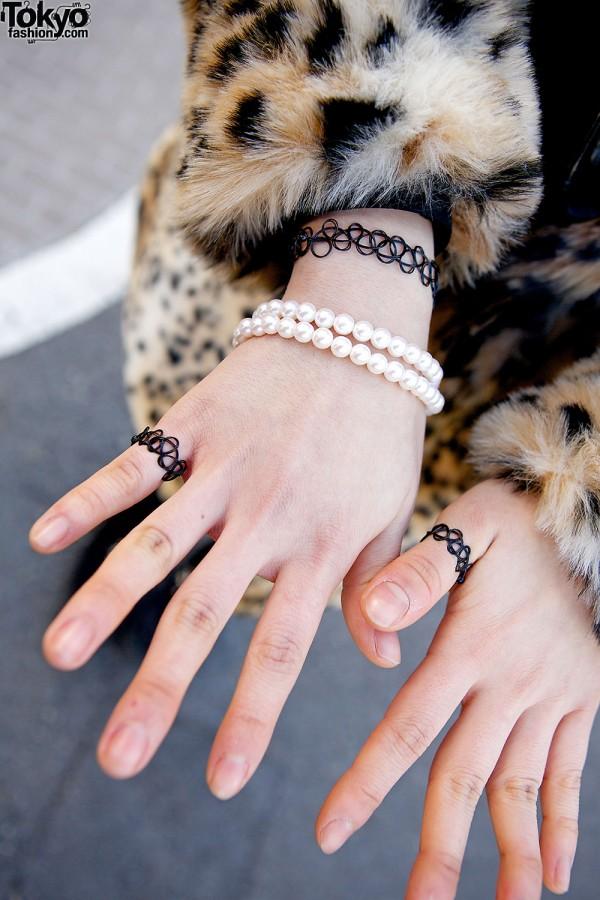 Tattoo bracelets & ring