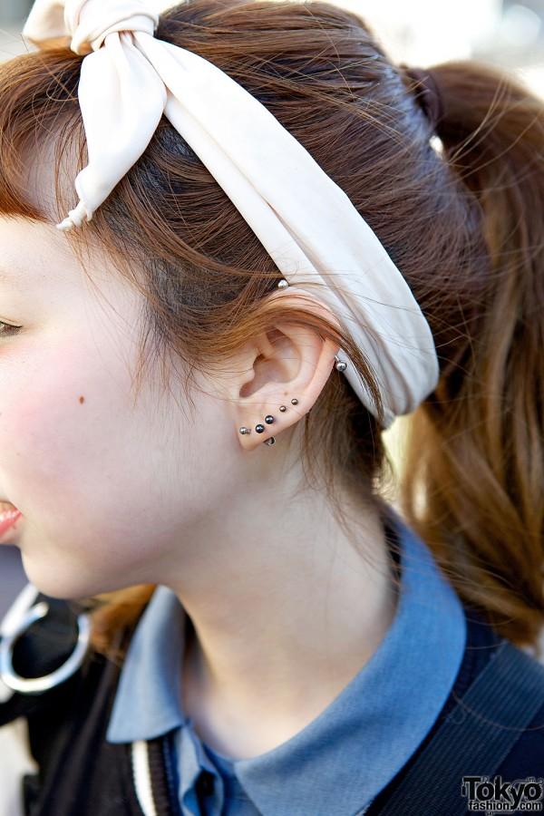 Headband & earrings