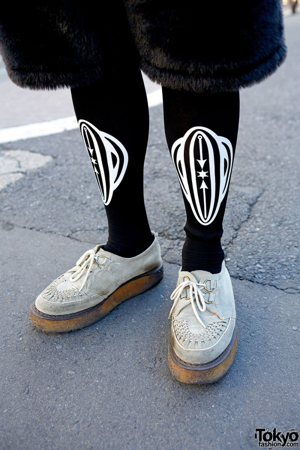 George Cox shoes & Vive Vagina tights