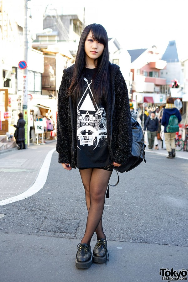 Monomania Hoodie, AvantGarde Harajuku Stockings & Boy London Creepers