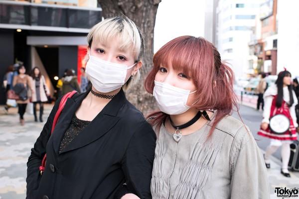 Chokers & Masks in Harajuku